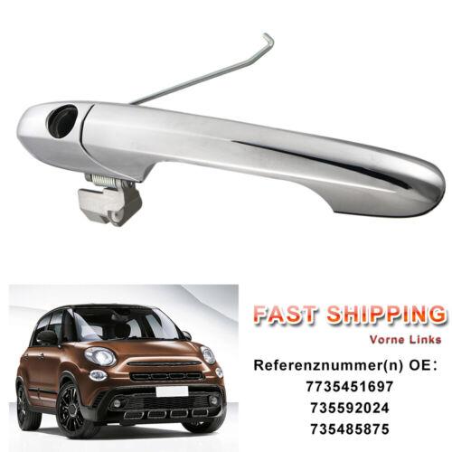 Fiat 500C Türgriff Aussen Aussentürgriff Vorne Links Silber 735592024 735485875
