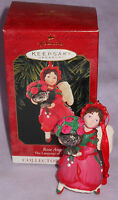 Hallmark Ornament Rose Angel Language Flowers Series 4 1999 Qx6289 Christmas