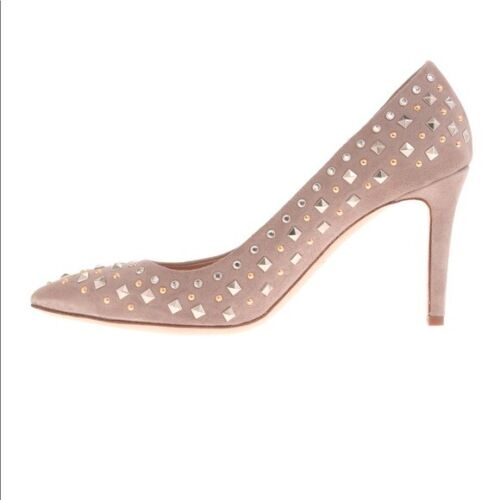 J.Crew Women's Everly Studded Pale Thistle Heels P