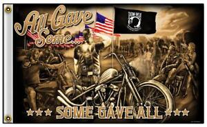 ALL-GAVE-SOME-SOME-GAVE-ALL-POW-MIA-BONES-3-X-5-BIKER-DELUXE-FLAG-776-NEW