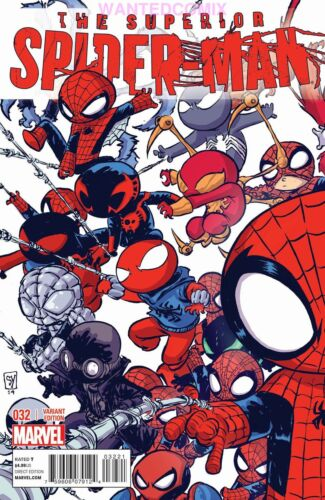 SUPERIOR SPIDER-MAN #32 SKOTTIE YOUNG VARIANT COVER GWEN COMIC BOOK NEW 1