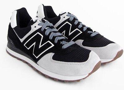 Dettagli su New Balance Us574cm2 Neonati 574 Taglia 8 Camoscio Bianco Nero