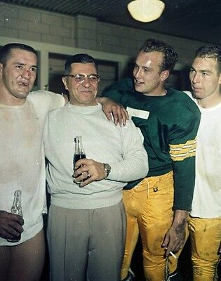 BART STARR PAUL HORNUNG VINCE LOMBARDI TAYLOR 8X10 GLOSSY PHOTO PICTURE