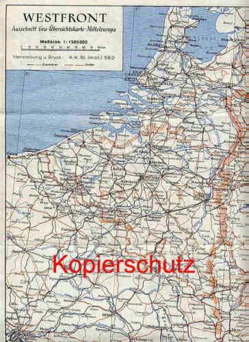 Westfront + Südostraum, Landkarte, Soldat, um 1941 !!!