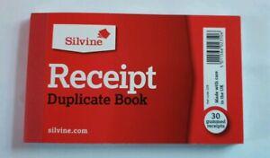 Silvine-228-Small-Cash-Sales-Receipt-Duplicate-Book-with-Carbon-Copy-amp-Paper
