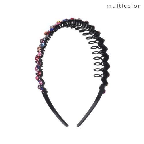 Colorful Tiara Women Flower Headband Hairband Hair Hoop Rhinestone Hair Hoop