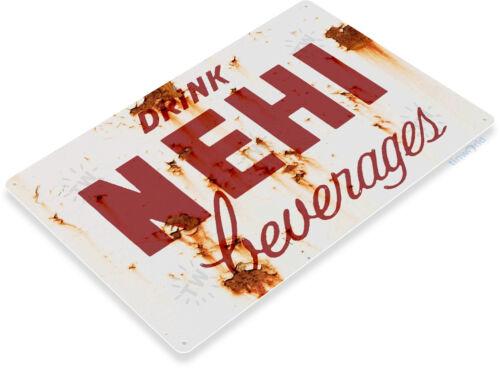 TIN SIGN B787 Nehi Beverages Kitchen Cola Soda Beverage Rustic Soda Metal