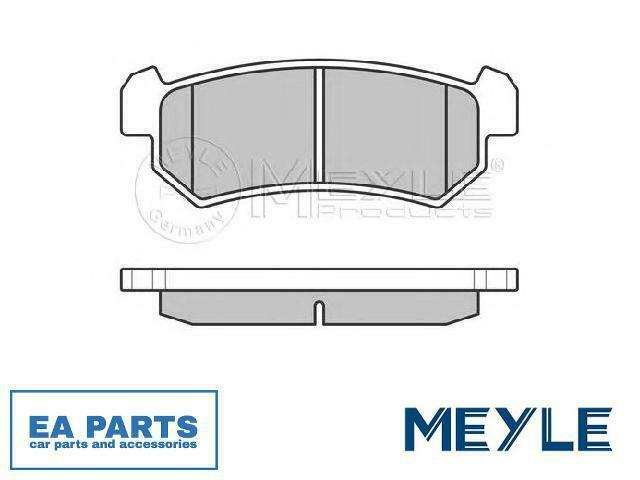 Brake Pad Set, disc brake for CHEVROLET DAEWOO MEYLE 025 240 7114