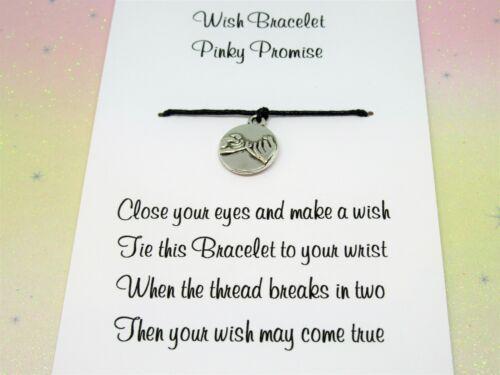 Pinky Promise deseo Pulsera Amistad encanto tobillera familia tibetano de tarjeta de regalo