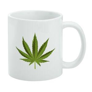 d60539212d1 Details about Marijuana Leaf Design Cannabis Pot White Mug