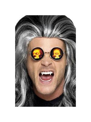 Billiger Preis Brille Rund Mit Hologramm Totenkopf Accessoires Kostüm Halloween