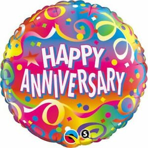 FOIL-BALLOON-18-034-45CM-Anniversary-Confetti-BIRTHDAY-PARTY-SUPPLIES
