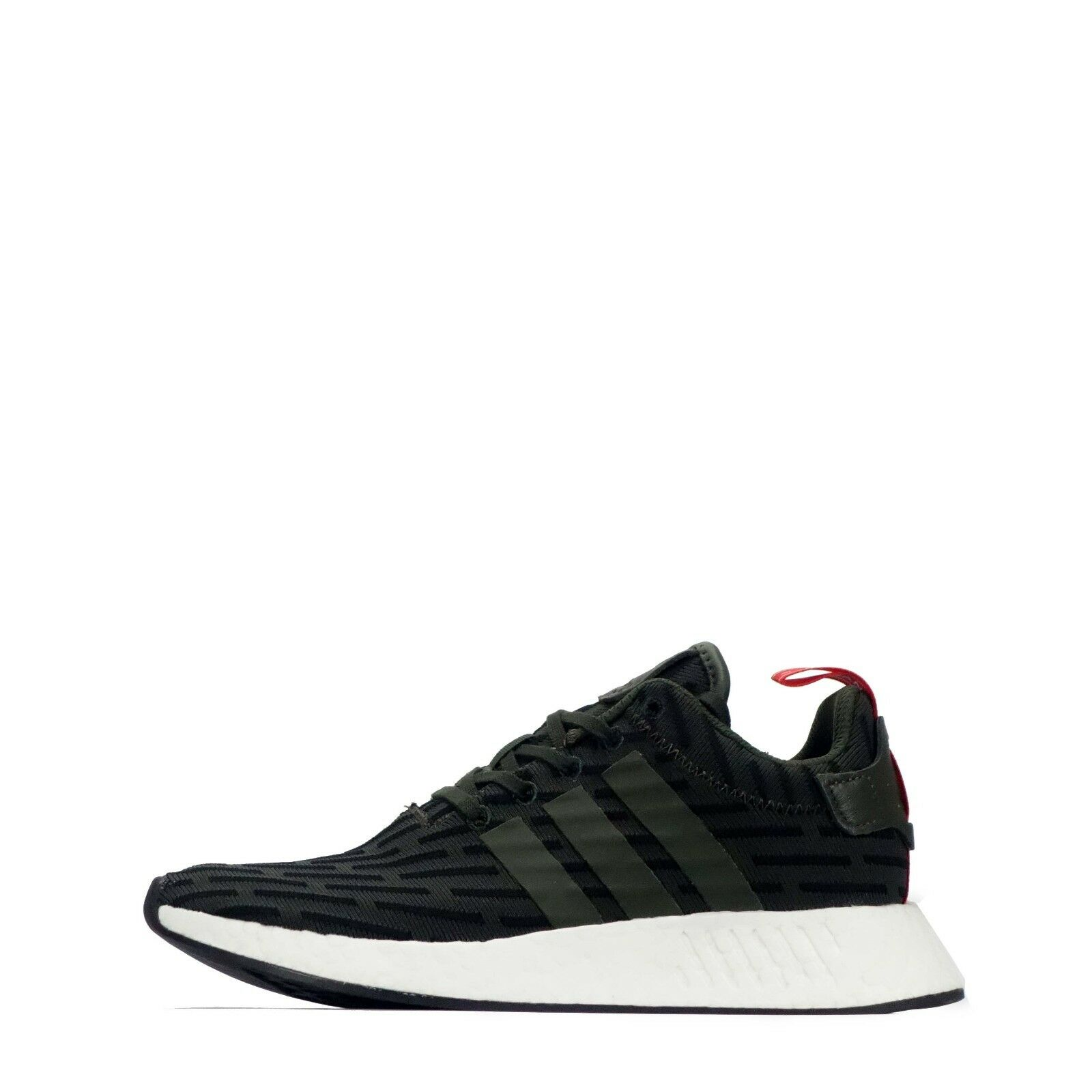 adidas Originals NMD_R2 Men's Trainers Shoes Low Rise Dark Green/Black