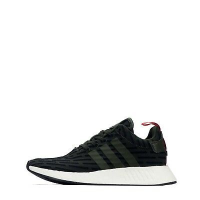 adidas Originals NMD R2 Men s Trainers Shoes Low Rise Dark Green Black 5849843db