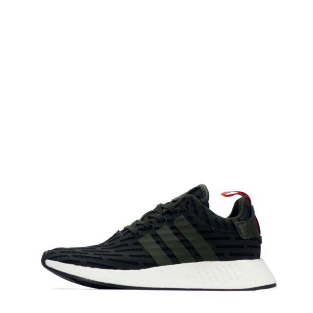9989aea93 adidas Originals NMD R2 Men s Trainers Shoes Low Rise Dark Green Black