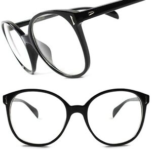 93e66f40882 Classic Vintage Retro Large Oversized Nerd Geeky Sexy Clear Lens Eye ...