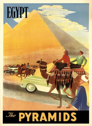 Camel Egypt Pyramids Cairo World Tourism Travel Vintage Poster Repro FREE S//H