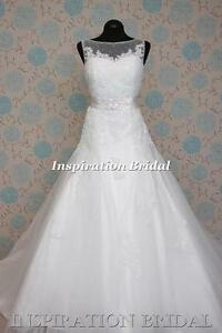 1384-White-Ivory-Wedding-Dresses-dress-tulle-gown-princess-size-8-10-12-14-16-18