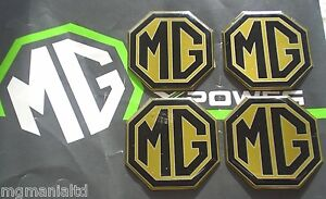 MGZT-MG-ZT-MGZT-T-Alloy-wheel-centre-badge-inserts-4-off-Pearlesant-Yellow