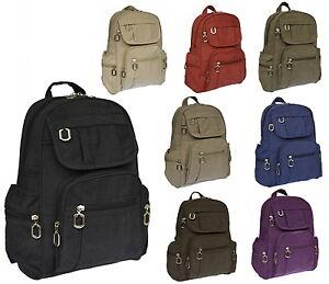 Rucksack-Damenrucksack-Tasche-Bag-Stoffrucksack-Neu-Farbwahl