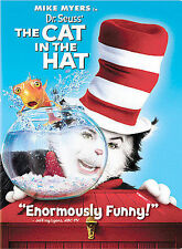 Dr. Seuss The Cat in the Hat (DVD, 2004, Widescreen Edition) MIKE MYERS, NEW