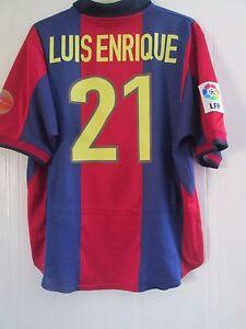 new product a6d63 a4dad Details about Barcelona 1998-2000 Home Luis Enrique 21 Football Shirt Size  XL /41592