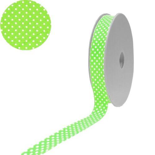 0.79 euros//mt. 1 papel algodón selección de puntos planos inclinados Band 40//20 manzana verde Weiss