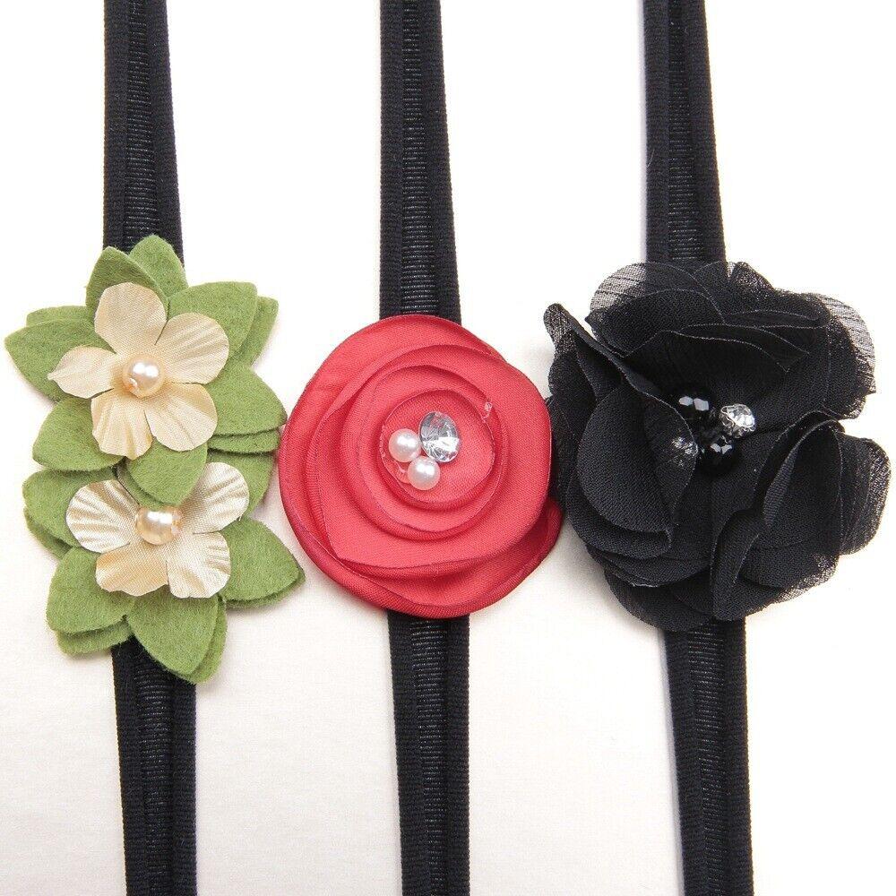 3Pcs/lot Newborn Girl Baby Headband Ribbon Elastic Headdress Kids Hair Band Bow 11