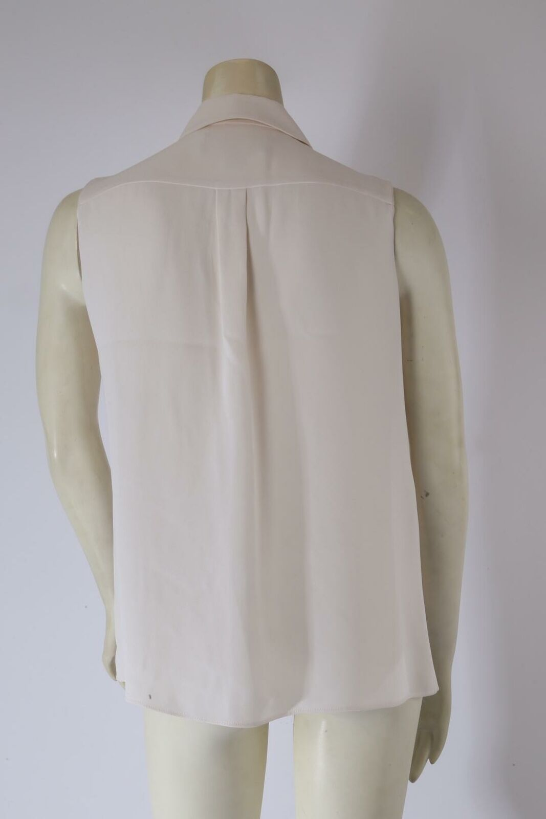 DEREK LAM Ivory Sleeveless Collared Silk Pleated … - image 6
