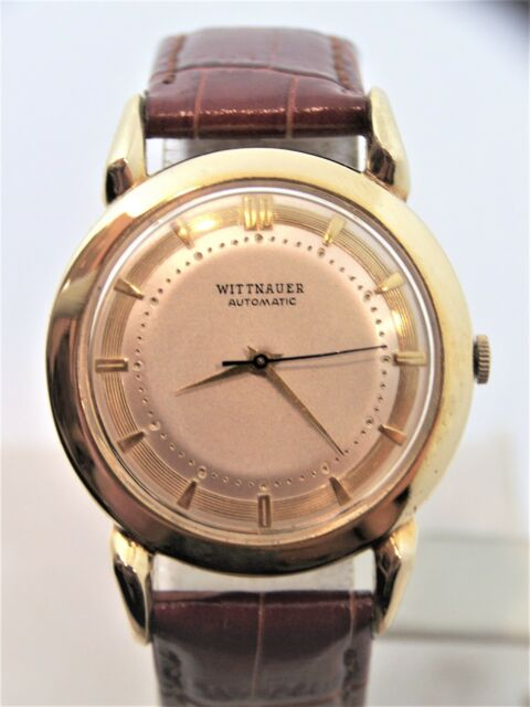 61f802af77af Vintage 14k Gold WITTNAUER Mens Automatic Watch 1960s Cal.11ARK  EXLNT   SERVICED