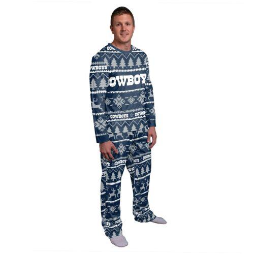 Mens Dallas Cowboys Wordmark Crewneck Pyjama Set