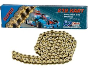 CZ 112 Link 219 Pitch Gold Racing Chain UK KART STORE 5060366427168