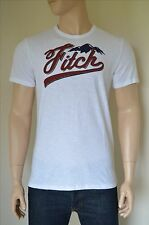 NUOVO Abercrombie & Fitch Logo Graphic Tee White Mountain T-SHIRT L