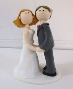 47a2f2e04cc85 Image is loading Fun-Cartoon-Claymation-Bride-amp-Groom-Wedding-Cake-