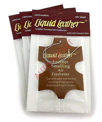"Gliptone ""Liquid Leather"" Scented Airfresheners x 3 - Long Lasting"