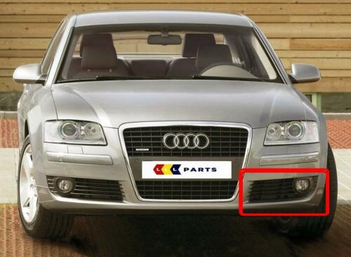 AUDI A8 4E 2004-2007 NEW GENUINE BUMPER N//S LEFT FOG LIGHT GRILL 4E0807681AC