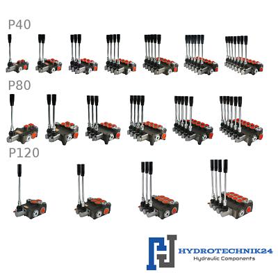 Hydraulik Handsteuerventil l 4-fach 40 Lt für Doppelwirkende zylinder