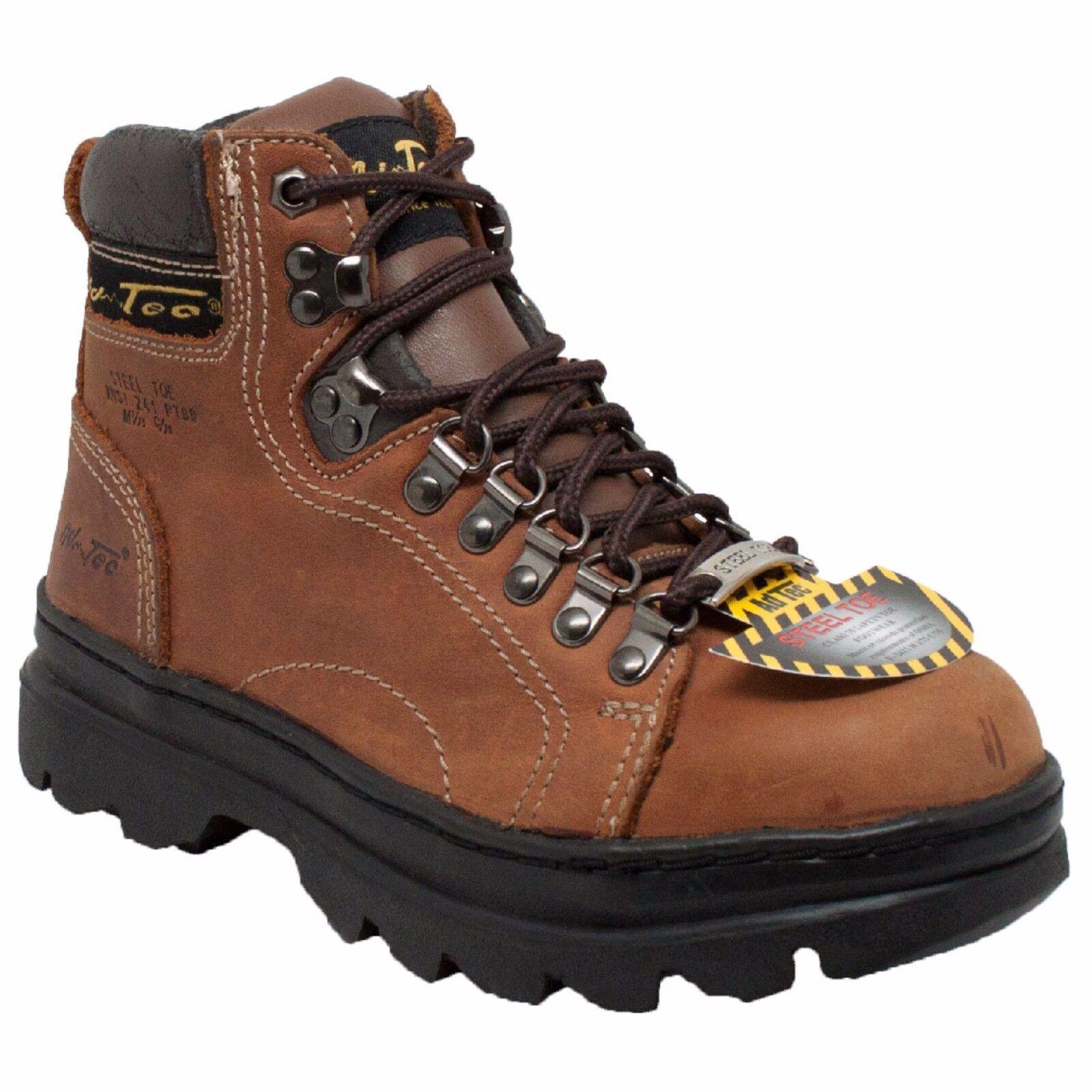 2977 AdTec, Brown, Women's 6'' Steel Toe Work Leather Boot