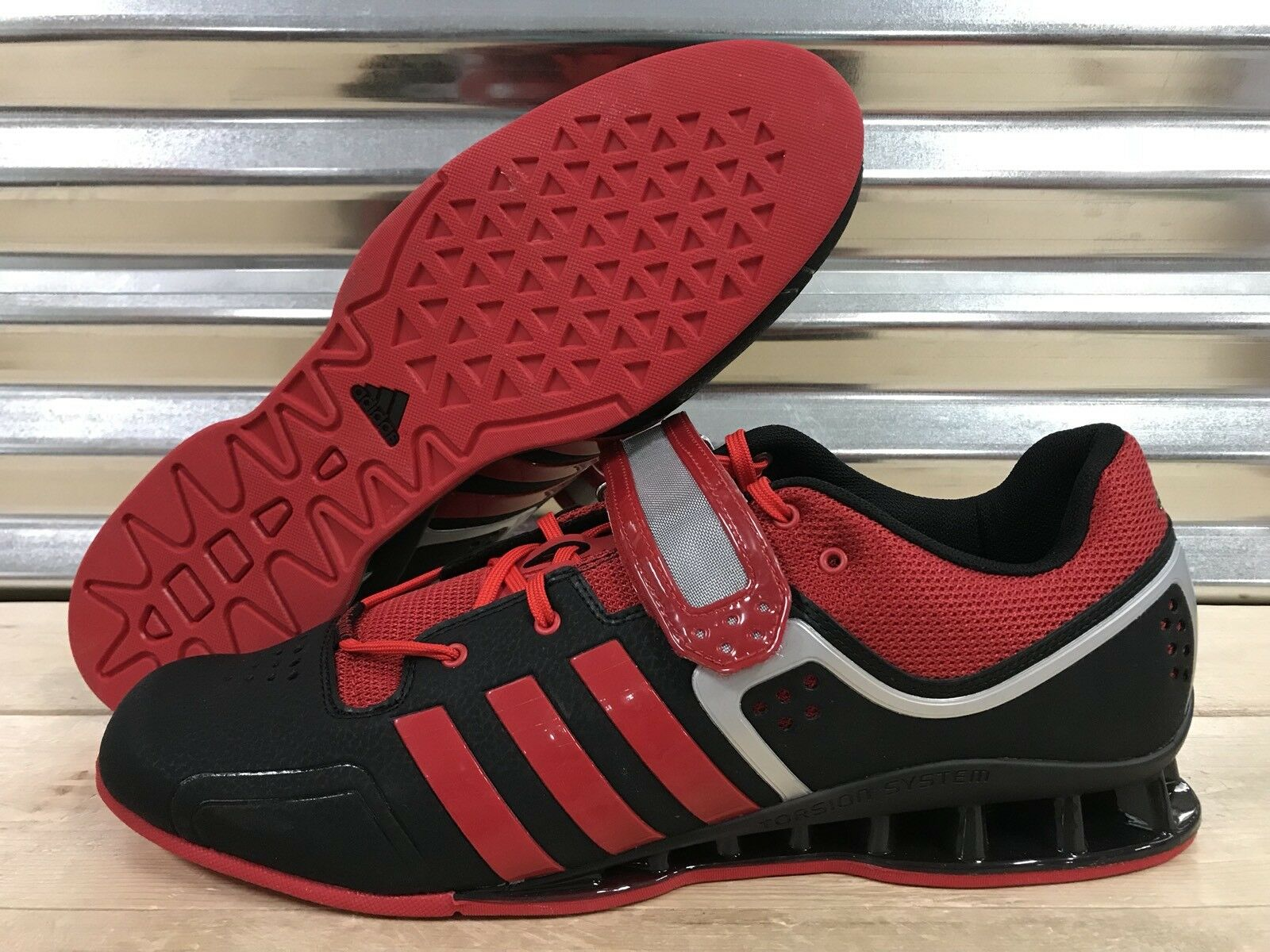 "465db0fb1618b Adidas Adipower Weightlifting Crossfit Zapatillas Negro Rojo Tamaño  (M21865) (M21865) (M21865. """