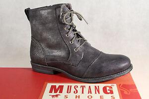 Mustang-Botines-Botas-de-Cordon-Botas-Gris-Piedra-1157-Nuevo