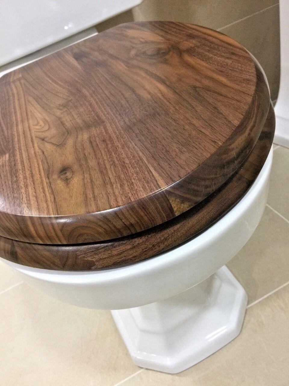 Burlington soft close en bois massif lunette de toilette-noyer