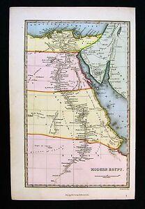 C 1799 Bible Map Modern Egypt Cairo Delta Alexandria Gizeh Nile