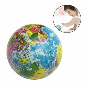 Mini funny world map foam earth globe stress bouncy ball atlas image is loading mini funny world map foam earth globe stress gumiabroncs Choice Image