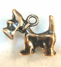 50Pcs. Wholesale Tibetan Antique Copper Scottie Terrier Dog Charms Pendant Q0044