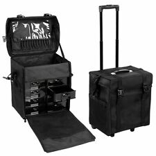 Nylon Professional Trolley Cosmetic Makeup Artist Carry Case Organizer Box