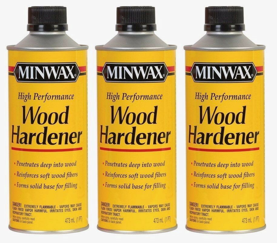 3New Minwax Natural Wood Hardener 1pt Paintable Sandable Shrink Resistant 41700