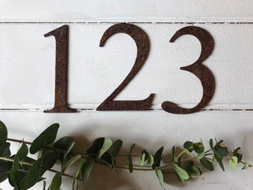 Rusty Metal Alphabet Letters Numbers @ /& Wall Hanging Garden Kitchen Short 15cm