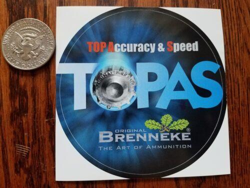 BRENNEKE Ammunition TOPAS Decal Sticker