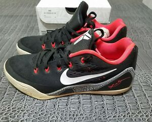 new style 10232 d1296 Image is loading Nike-Kobe-IX-9-EM-Black-Laser-Crimson-