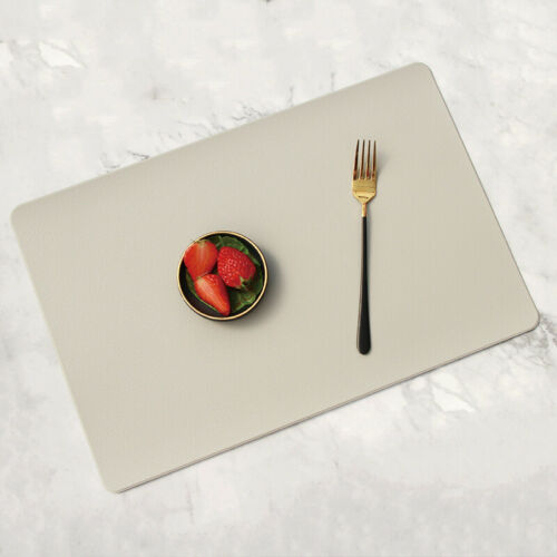 Set of 2//4//6//8 Table Placemats Tableware Pads Oil-proof Leather Meal Mat Kitchen